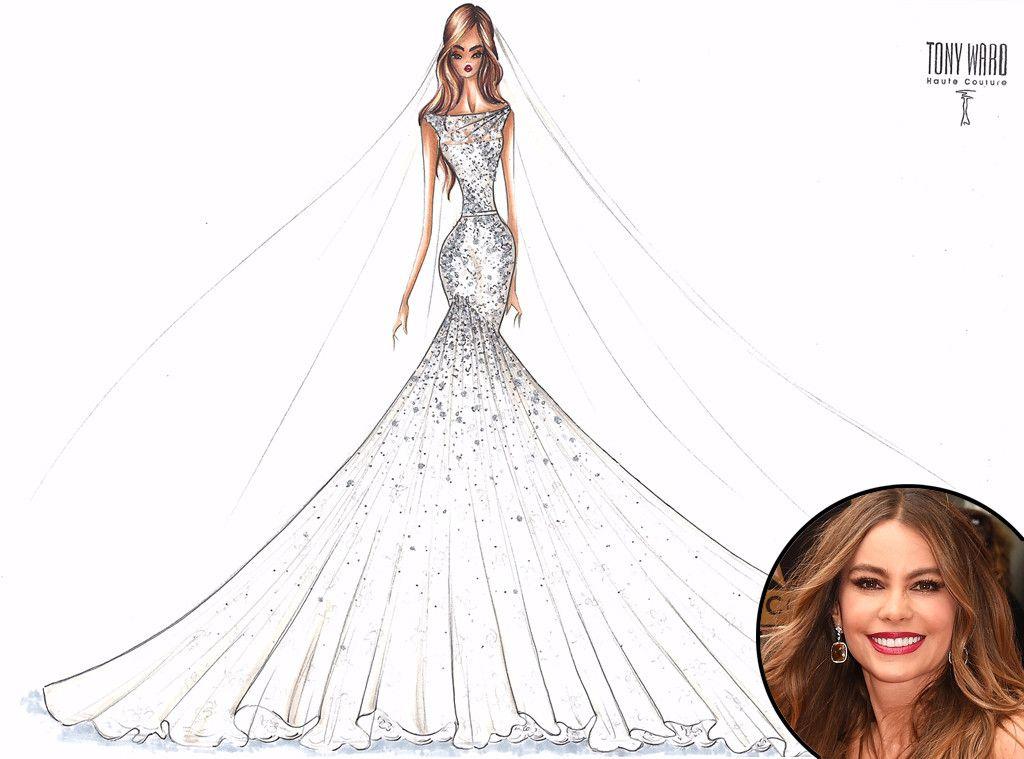 Wedding Dress Sketch Gift: Angel Sanchez From Designer Wedding Dress Sketches For