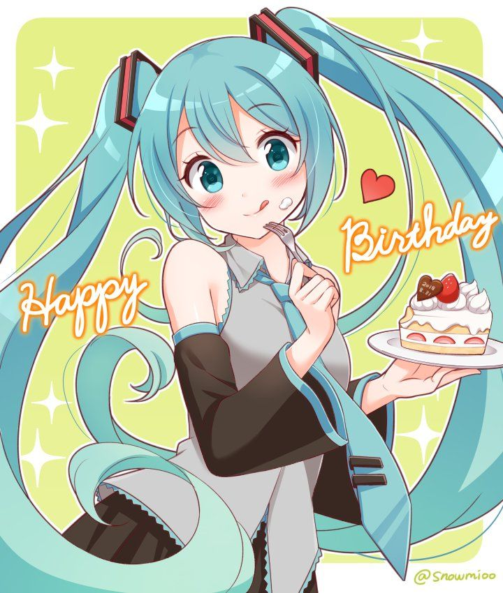 すのみ on Twitter Anime happy birthday, Hatsune miku