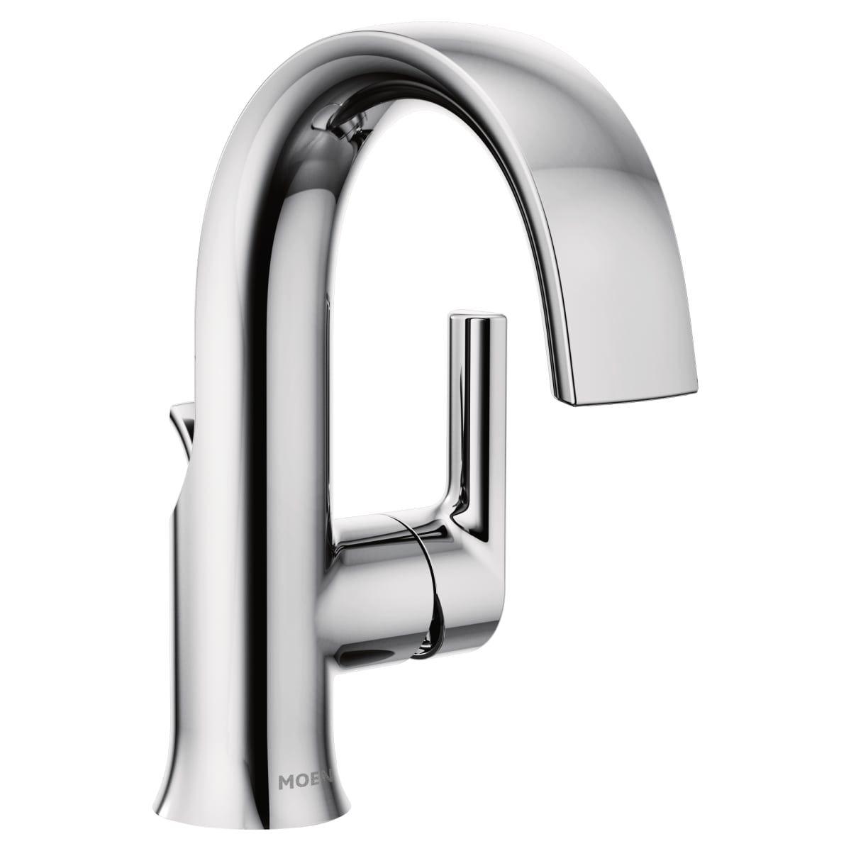 Moen S6910 Chrome Doux 1 2 Gpm Single, Moen Chrome Bathroom Faucet