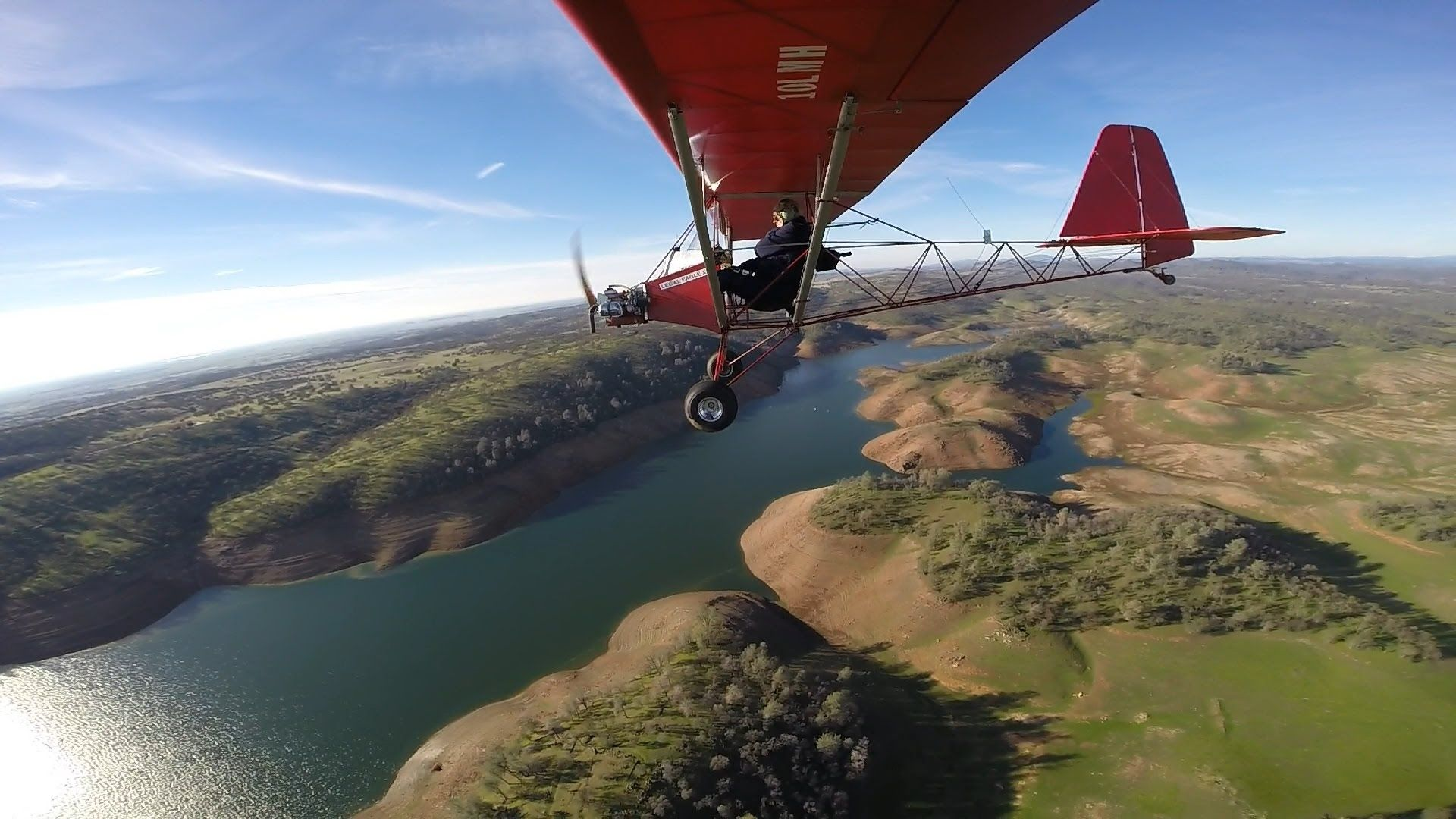 Flying to Lake Don Pedro in Legal Eagle Ultralight | legal eagle