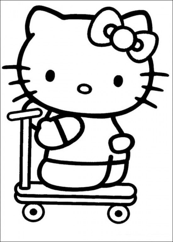 Free Printable Hello Kitty Coloring Pages Picture 34 550x770