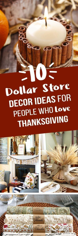 10 Thanksgiving Dollar Store Ideas in 2020 | Dollar store ...