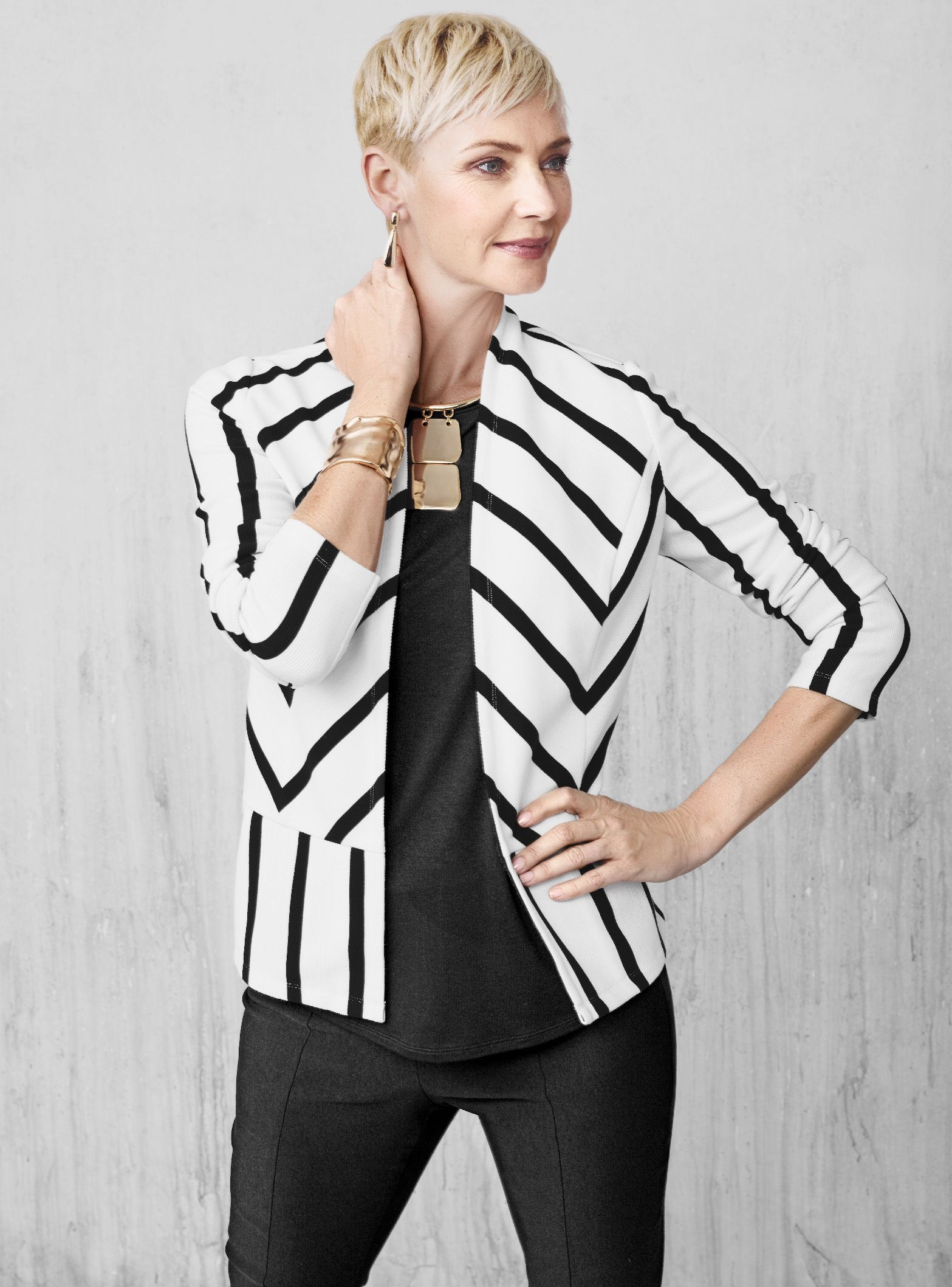 46cc11f4708 Step up your work wardrobe with our Striped Ottoman Jacket.
