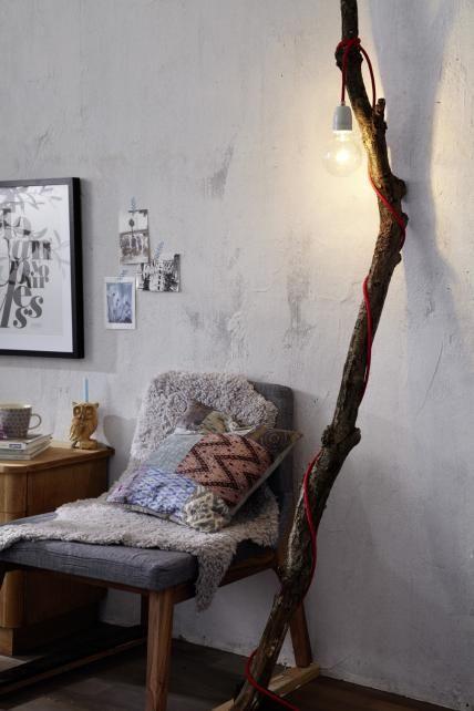 Do it yourself Astlampe  Home  Ast lampe Textilkabel