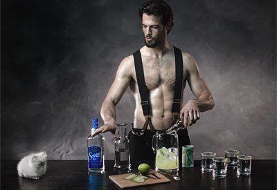 man drinking margarita Sexy a