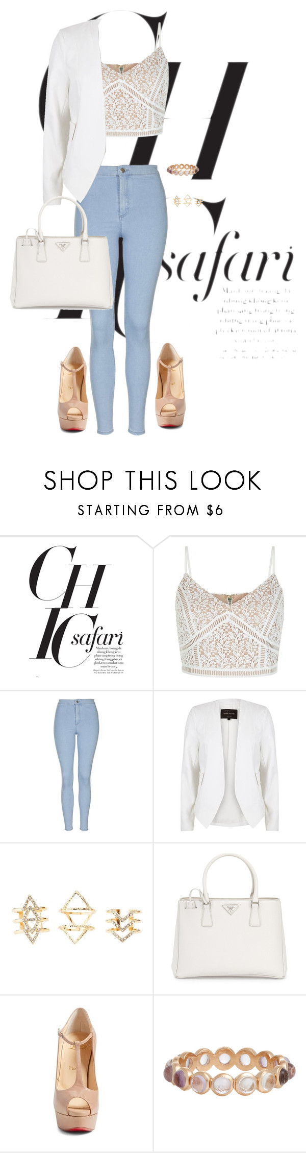"""Untitled #215"" by jmatz on Polyvore featuring Topshop, River Island, Charlotte Russe, Prada, Christian Louboutin and Irene Neuwirth"