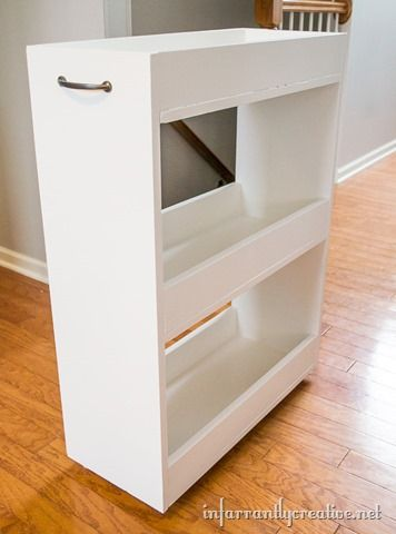 Slim Laundry Cart Between Washer Dryer Storage