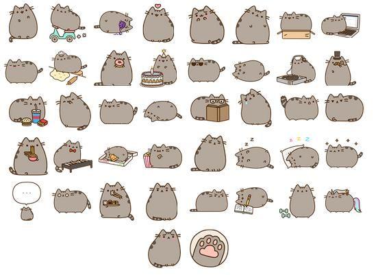 картинки кот пушин много на одной картинке