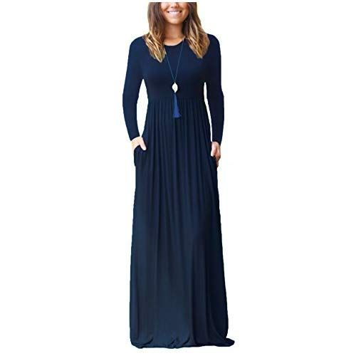 9aa6317c605 Eternatastic Womens Floral Lace 2 3 Sleeves Maxi Dress Evening Party Long  Dress XL Black