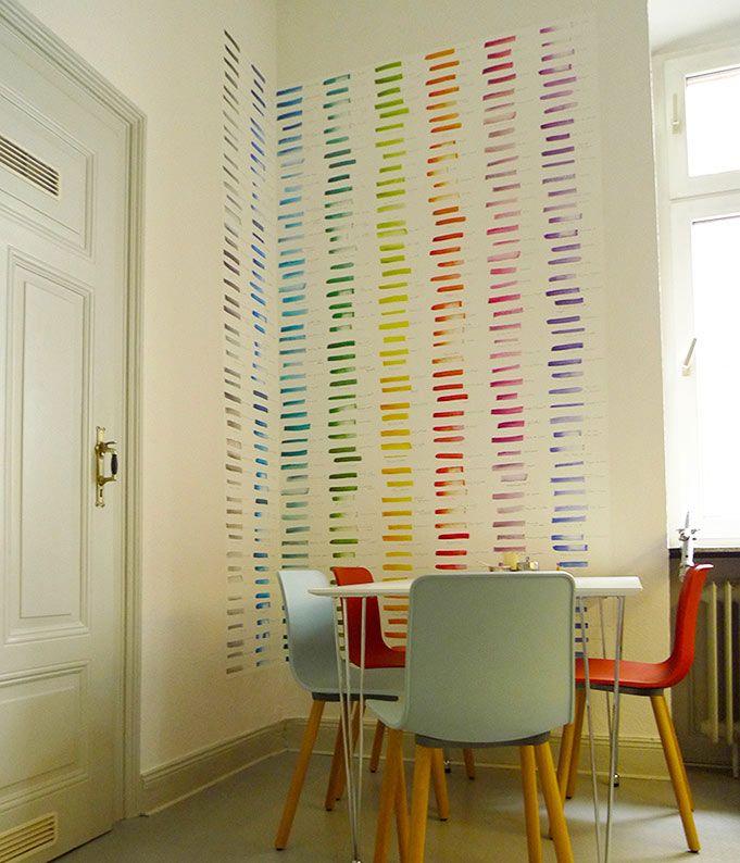 Papier peint nuancier ohmywall papier peint original en 2018 pinterest papier peint - Tapisserie lessivable cuisine ...