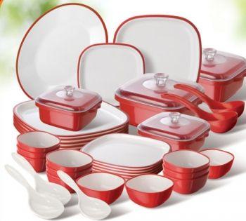 Nayasa Dinnerware Set Of 38 Red