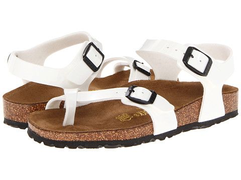 93faca8d6943 Birkenstock Kids Taormina (Toddler Little Kid Big Kid) White Patent  Birko-Flor - Zappos.com Free Shipping BOTH Ways