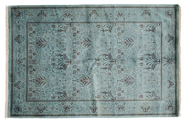 """4'7""""x6'10"""" Queue Rug, Blue 