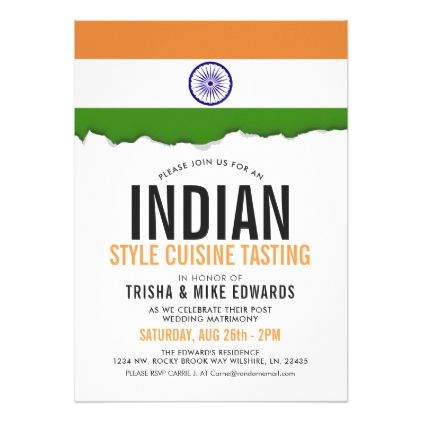 Bridal shower invitations indian cuisine party flag white bridal shower invitations indian cuisine party flag white invite filmwisefo