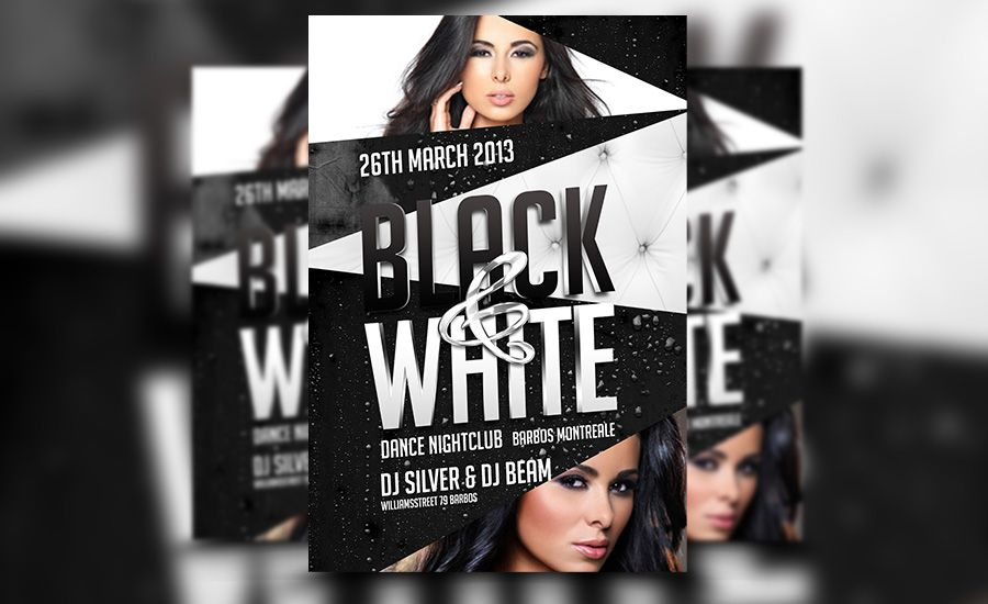 Awesome Black And White Psd Club Flyer Template Download At: Http