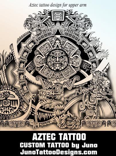 Aztec calendar tattoo, tribal tattoo, juno tattoo designs ... Aztec Calendar Sleeve Tattoos