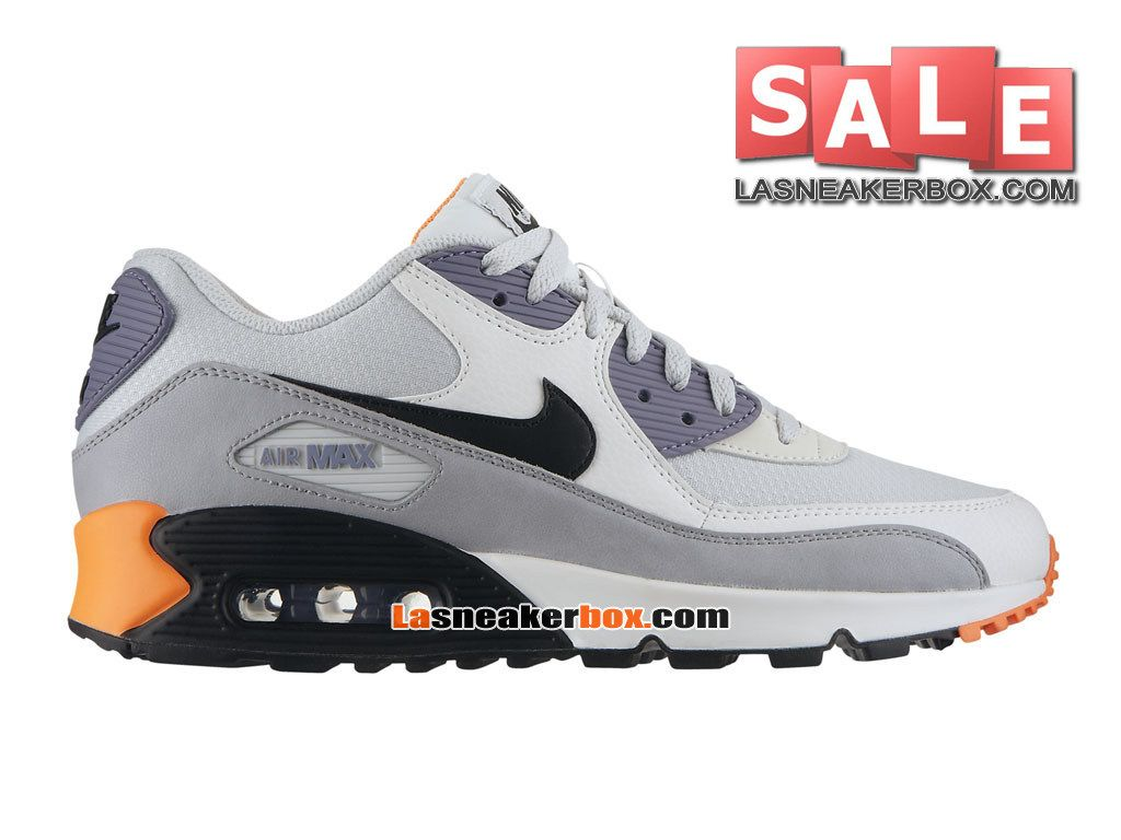 buy popular 369bc 01a12 ... NIKE AIR MAX 90 ESSENTIAL - CHAUSSURE NIKE SPORTSWEAR PAS CHER POUR  HOMME Grise base clair ...