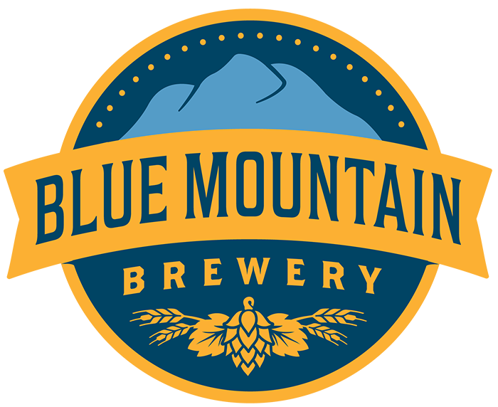 Home main Brewery, Blue mountain, Beer logo
