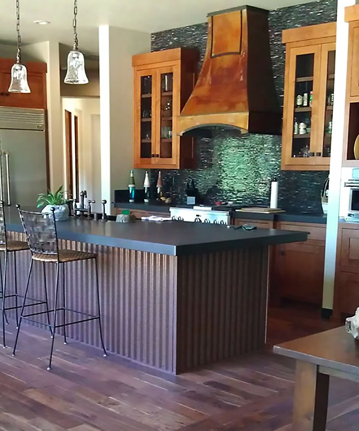 7 8 Quot Corrugated Siding Antique Rustic 174 Stainless Steel Kitchen Island Stainless Steel