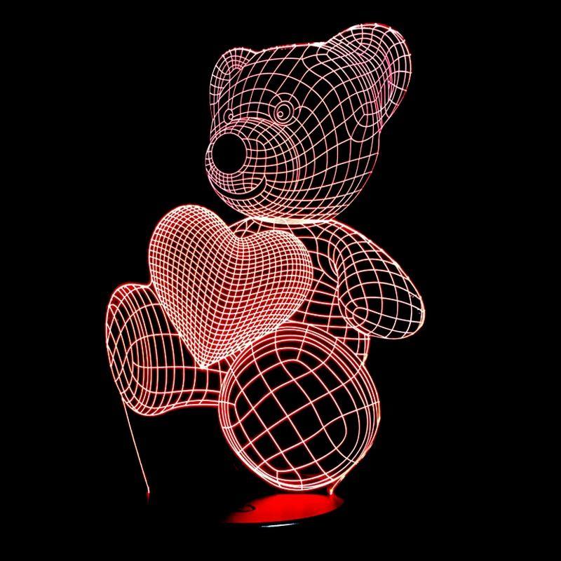 Новинка подарок Луна Форма пары 3D лампа ночник для детей ...