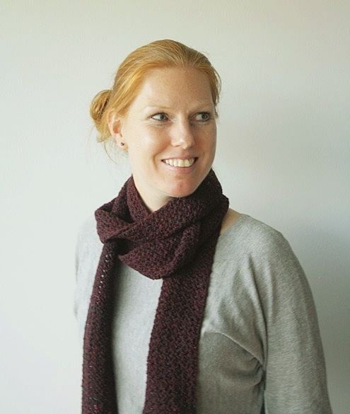 Photo of Long, skinny scarf in tweed (with a modest crochet tutorial)