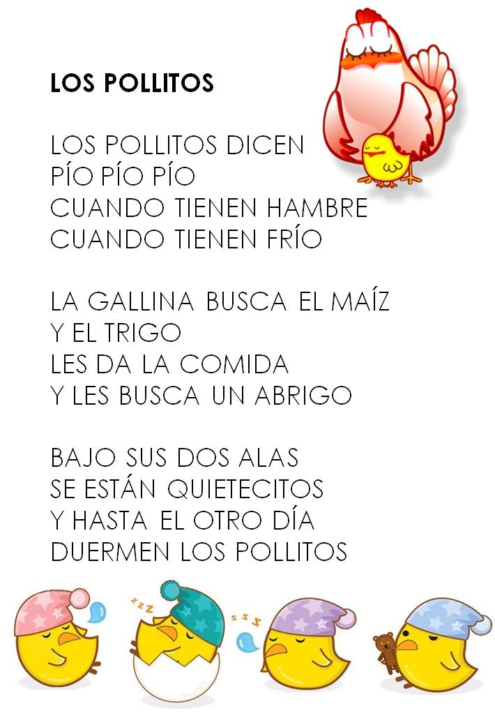 Los pollitos educar pinterest spanish spanish songs for Cancion infantil hola jardin
