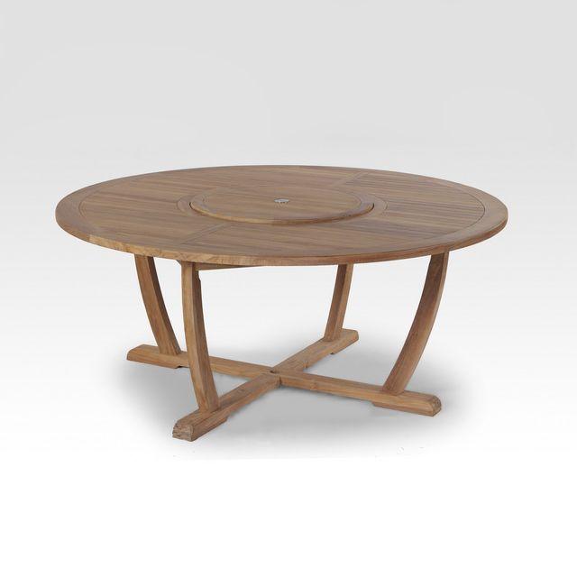 Modele El Mundo Capacite Maximale 10 Personnes Description Table Ronde Avec Plateau Rotatif Centrale Lazy Suzan De 60 Cm Avec Images Teck Table Ronde Inoxydable