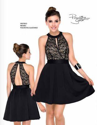 Paulina Goto viste sexy vestido de color negro | Vestidos ...