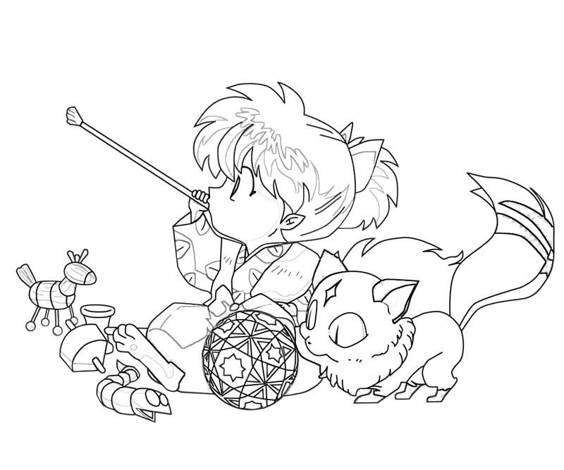 Pin By Tien Shinhan On Inuyasha Chibi Coloring Pages Cute Coloring Pages Animal Coloring Pages