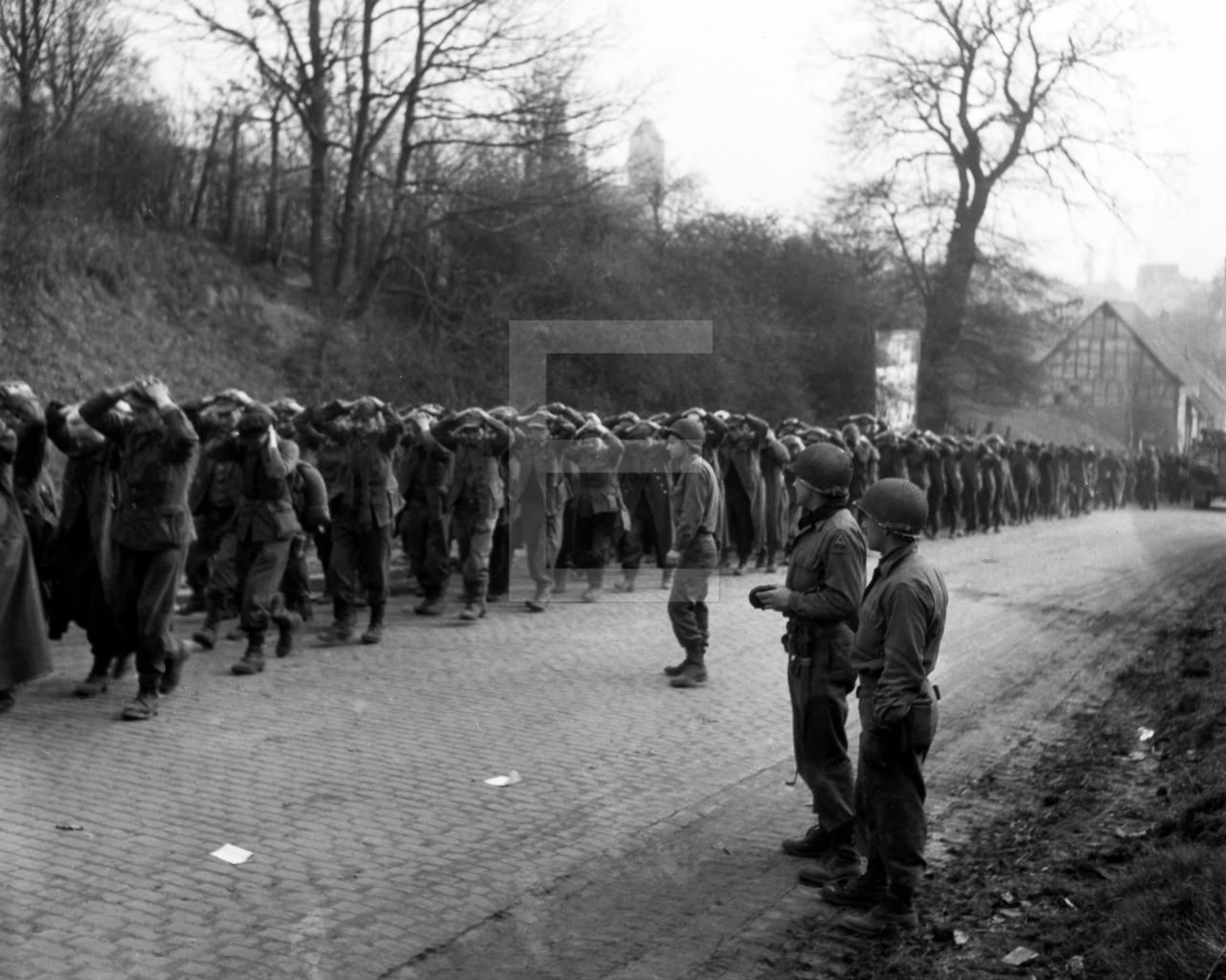 45 WW2 Limburg an der Lahn Hessen Germany POW 2nd Infantry