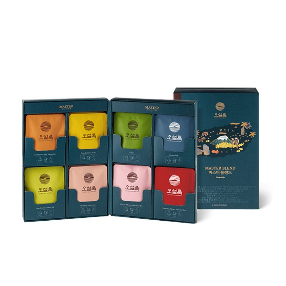 Osulloc Master Blend Collection Blended Organic Green Tea For Gift Sejak Tangerine Yuja Moon Walk Camellia With Images Spices Packaging Tea Packaging Coffee Packaging