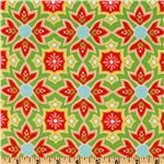 "The Quilted Fish's ""Delighted - Green"" for Riley Blake - on sale at $7.21/yard."