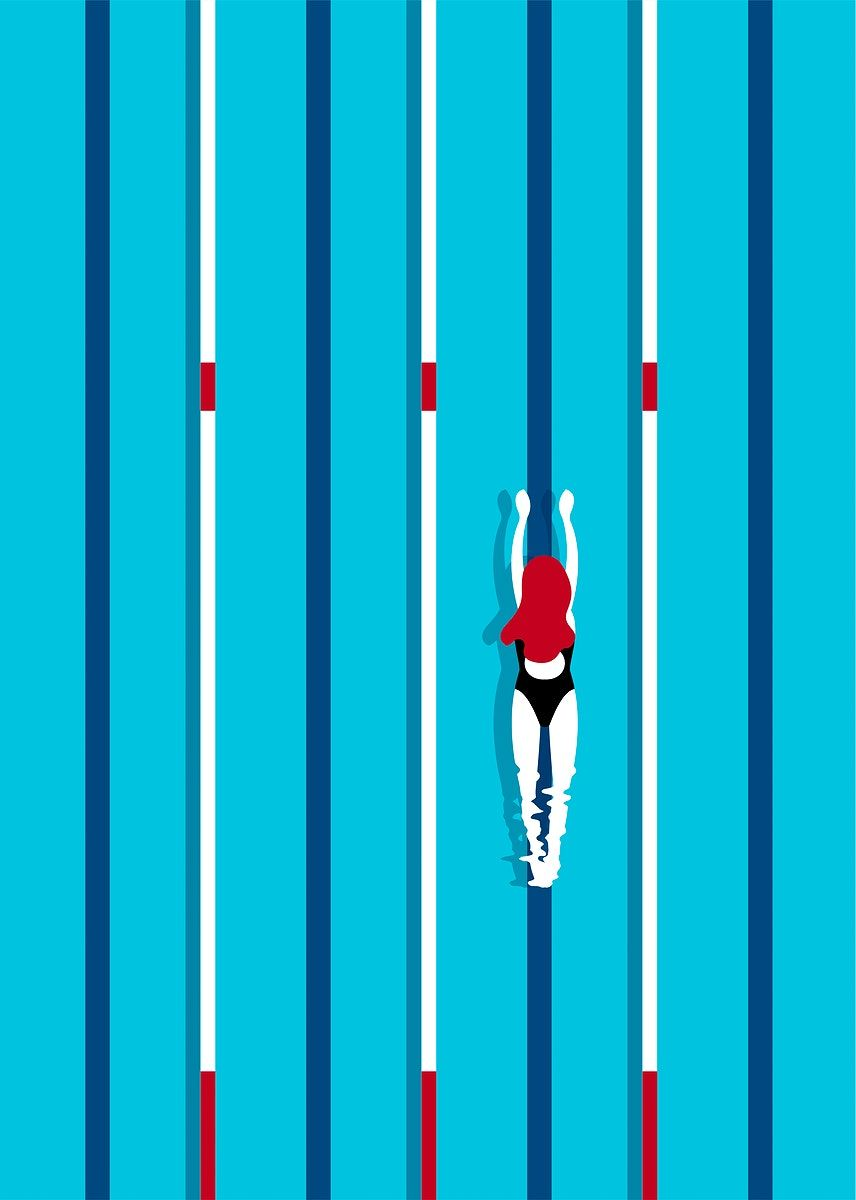 Download free vector of Aerial view of a swimming pool 449807