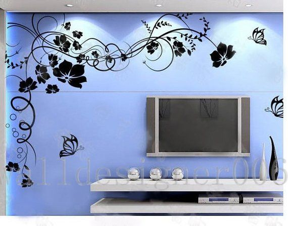 flower wall decals wall stickers wall decor,home decor- beautiful