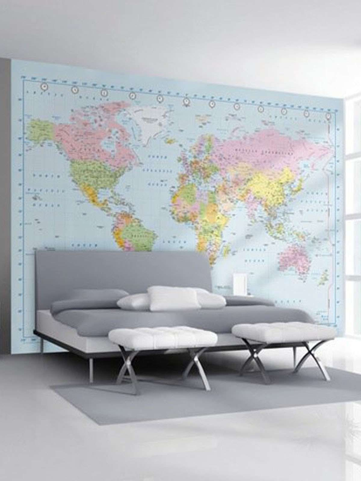 World Map Giant Easy Hang Wall Mural Map Murals World Map Mural World Map Wallpaper