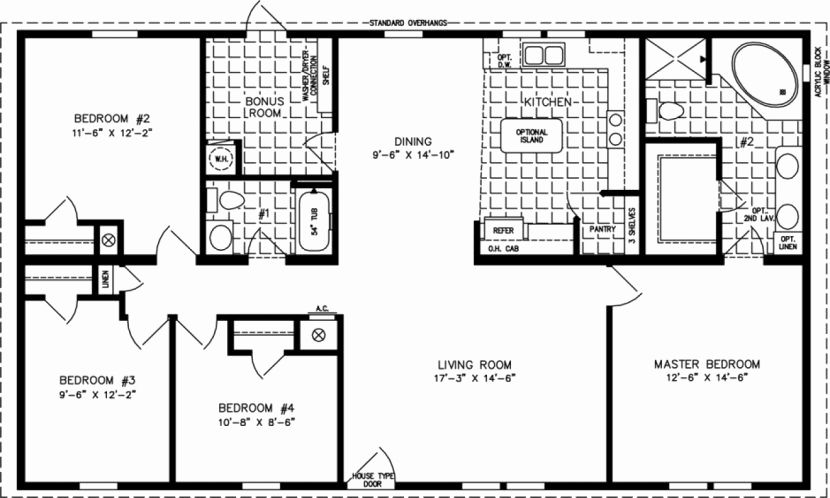 Image result for 1500 square foot house plans 4 BEDROOMS