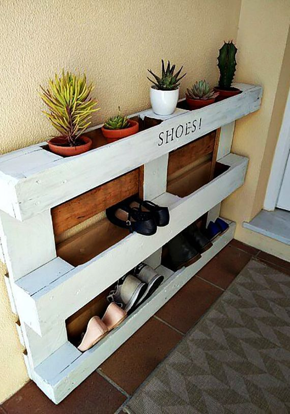 Wie kann man Schuhregal selber bauen? #recyceltepaletten