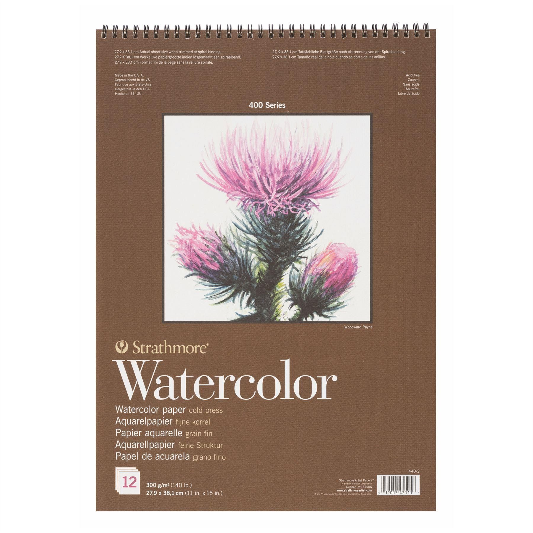 Strathmore 400 Watercolour Pad 27 9 X 38 1 12 Sheets 300gsm
