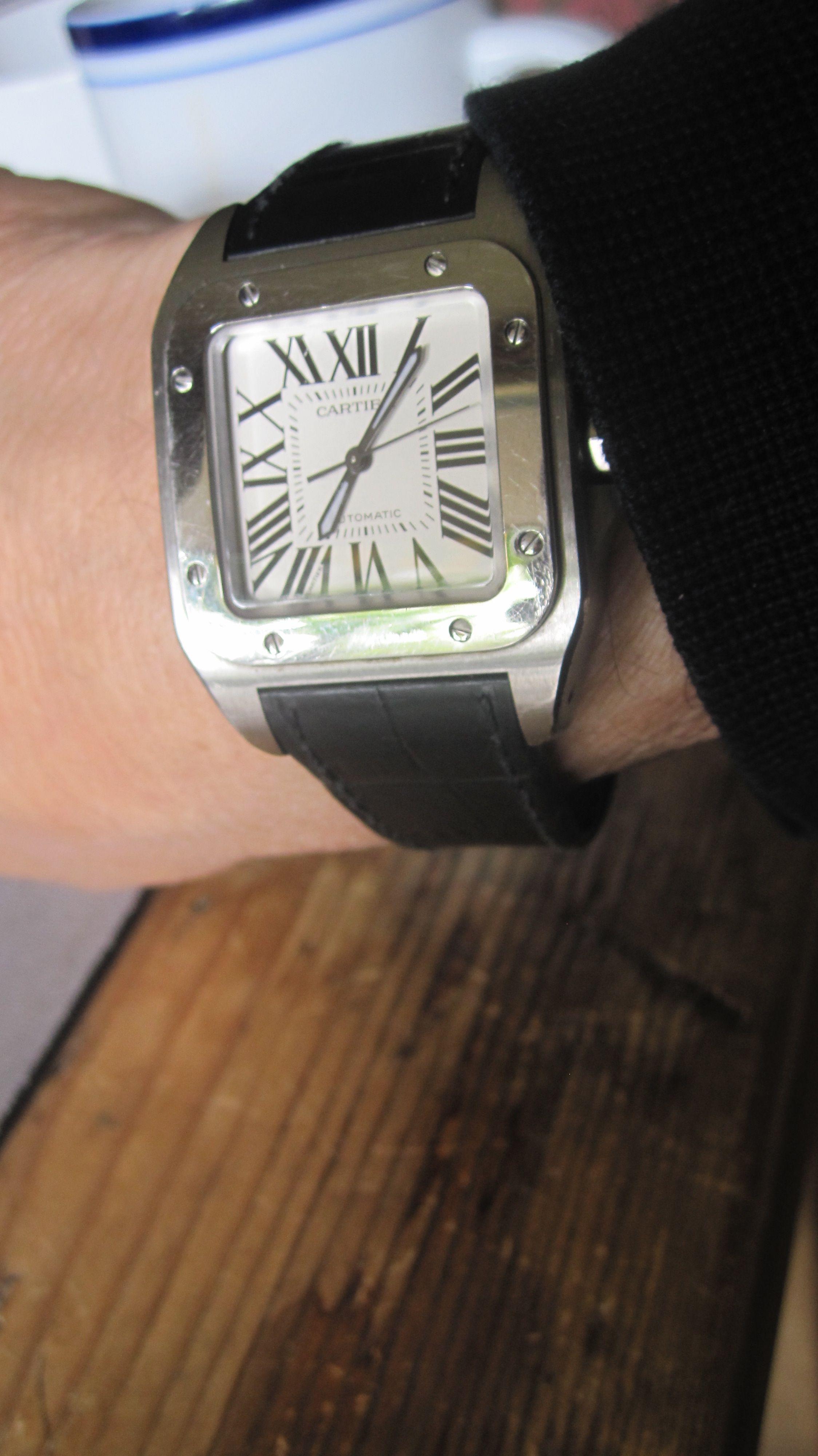 Joe's favorite watch: The Cartier Santos 100.
