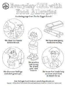 Food Allergy Skills For Kids Coloring Page Allergies Coloring