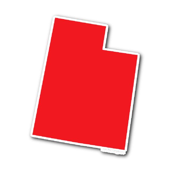 Utah State Shape Sticker Outline Red State Shapes Utah Shapes