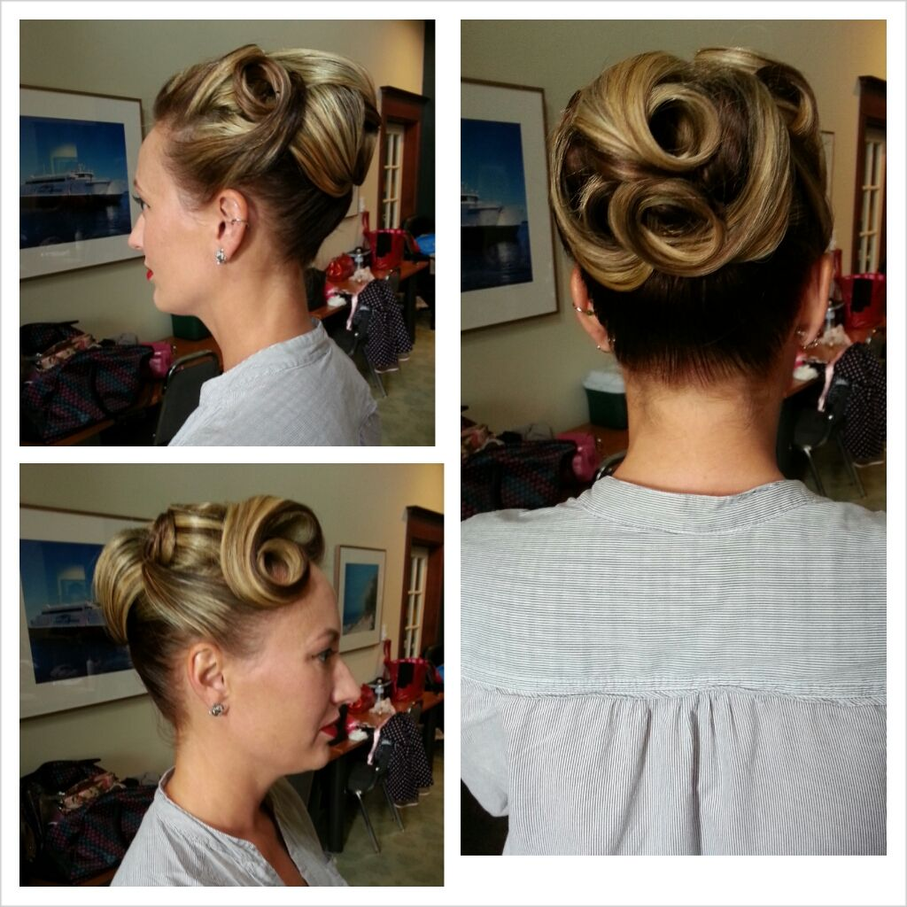 Updo hairstyle by stephanie strowbridge hair pinterest more