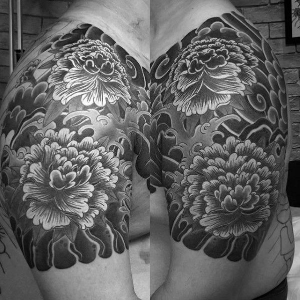 50 Japanese Flower Tattoo Designs For Men Floral Ink Ideas Sleeve Tattoos Quarter Sleeve Tattoos Carnation Flower Tattoo