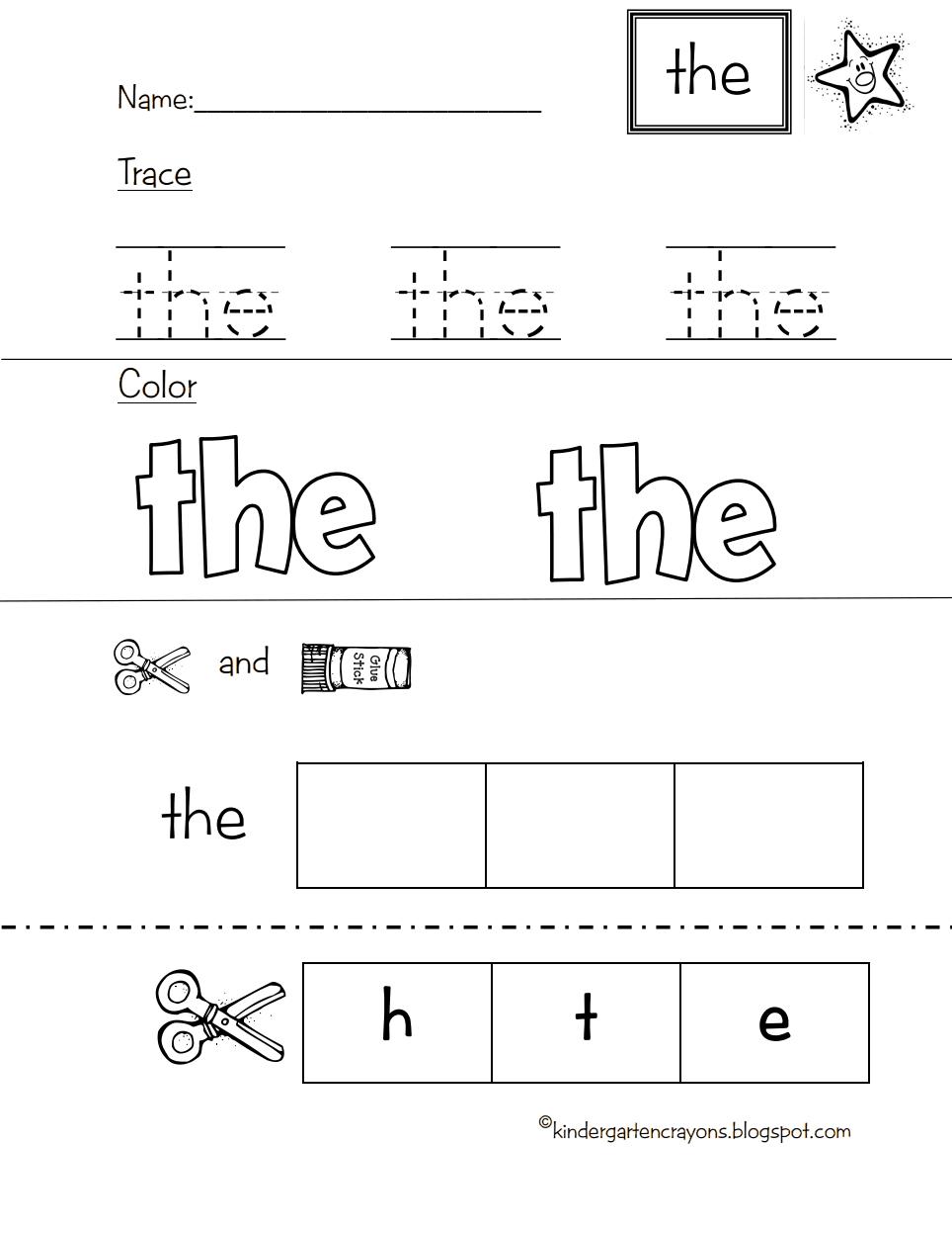 Star Word The Pdf Google Drive Sight Words Kindergarten Preschool Sight Words Kindergarten Crayons