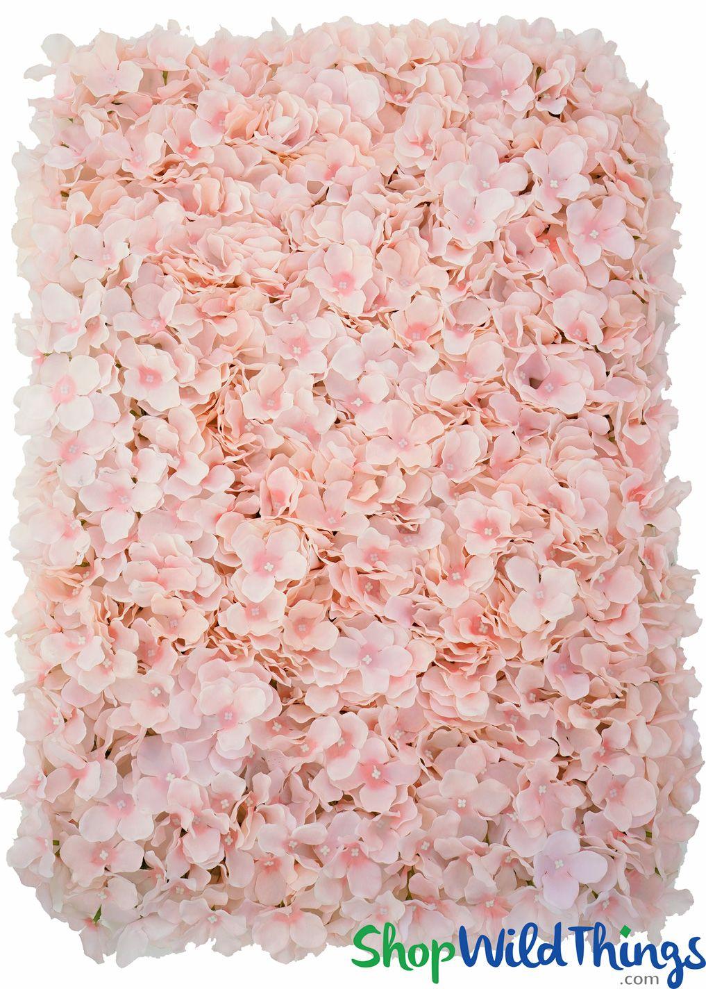 Flower Wall 19 X 26 1 2 Premium Silk Hydrangeas Coral Pink Flower Wall Backdrop Diy Pink Hydrangea Centerpieces Flower Wall