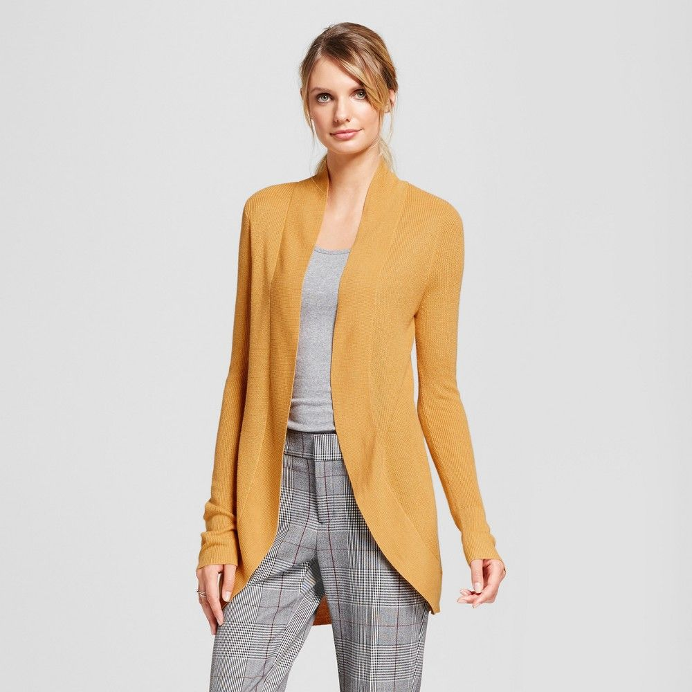 a8989db6d3 Women s Cocoon Cardigan - A New Day Gold XS