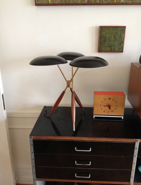 Gerald Thurston Tripod Table Lamp Manufatured by Lightolier on Etsy, $1,500.00