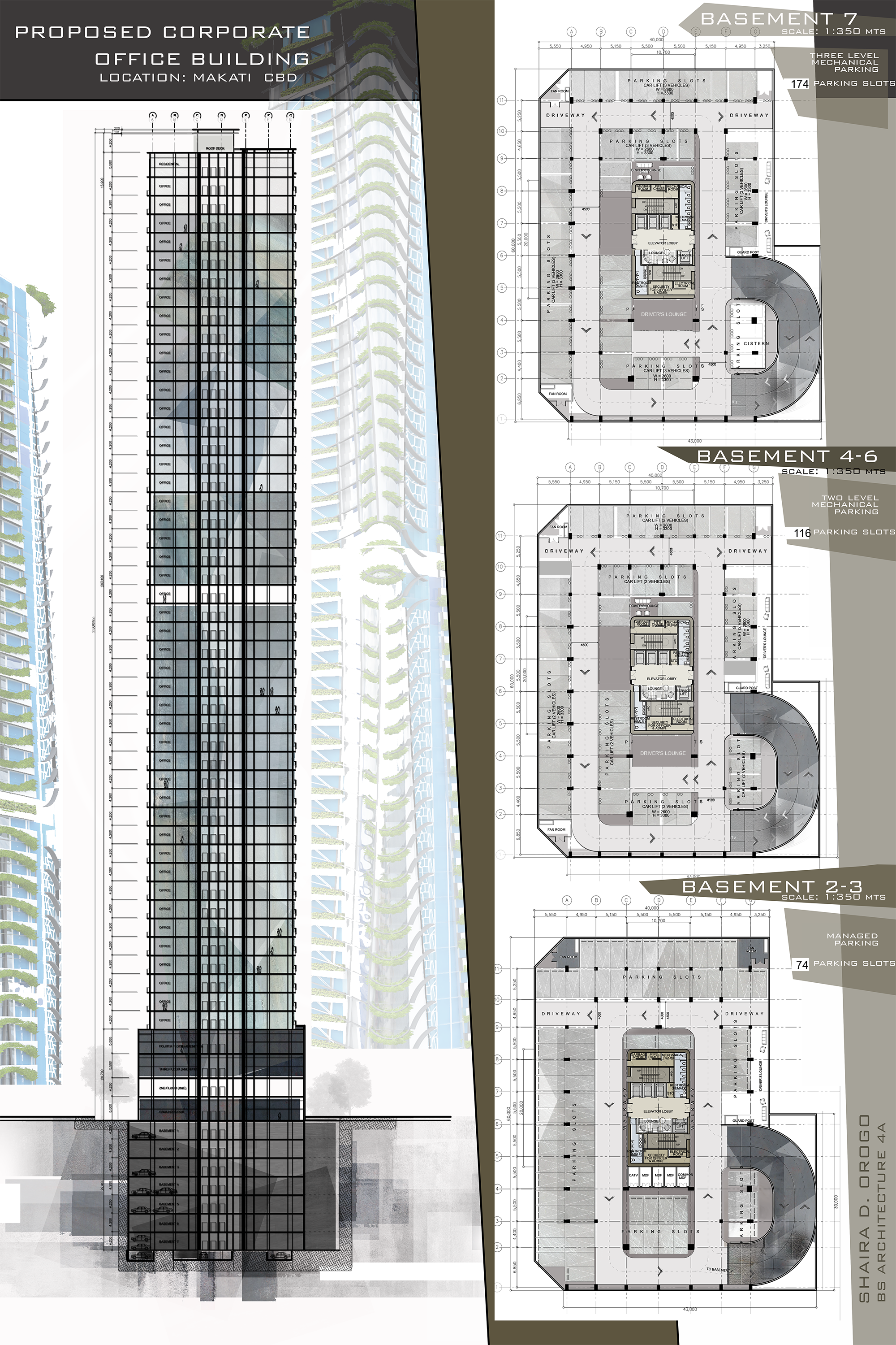 Design 8 Proposed Corporate Office Buildling High Rise