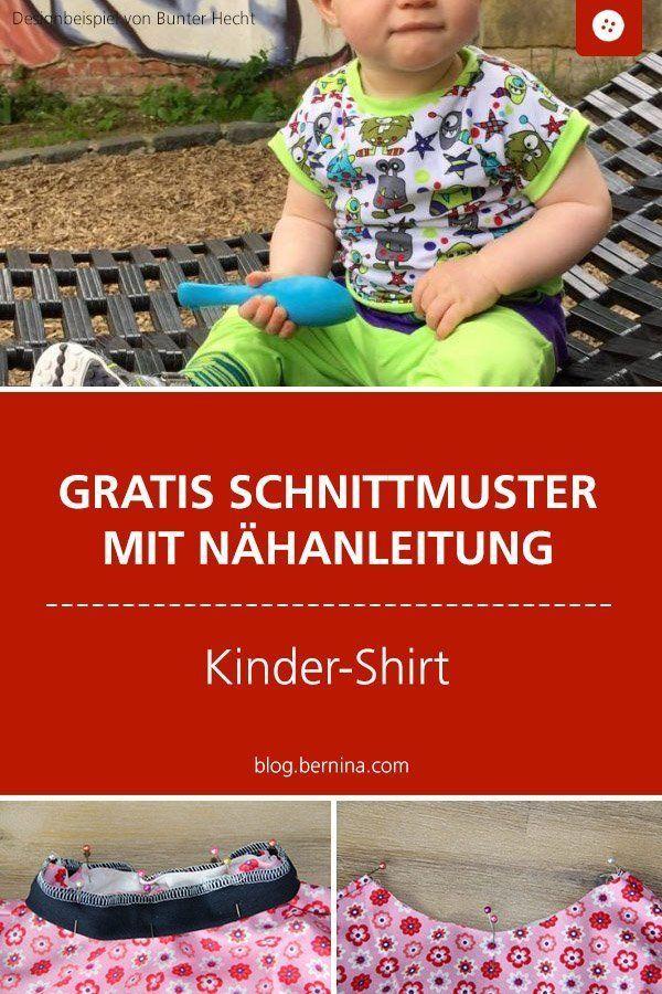 Nähanleitung mit Schnittmuster für ein Basic-Kindershirt