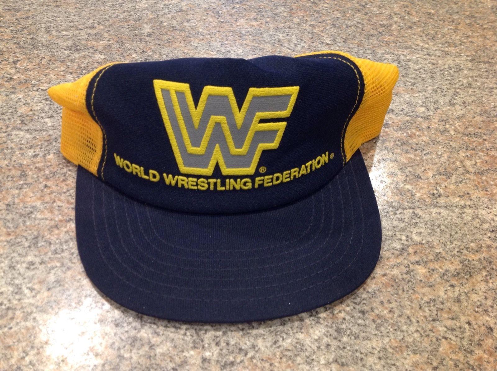 e536e46d RARE OFFICIAL 1988 WWF World Wrestling Federation Logo Mesh Hat Vintage WWE  | eBay
